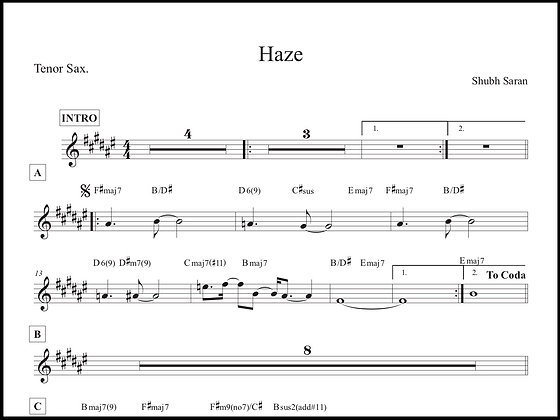 Haze • Tenor Sax