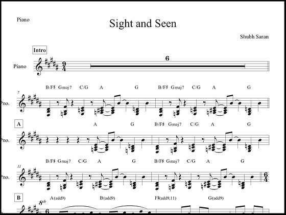 Sight and Seen • Piano