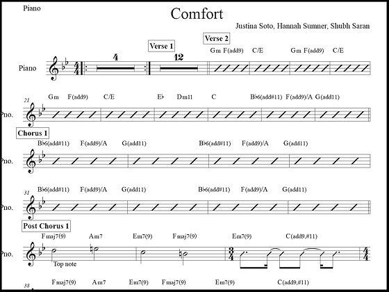 Comfort • Piano