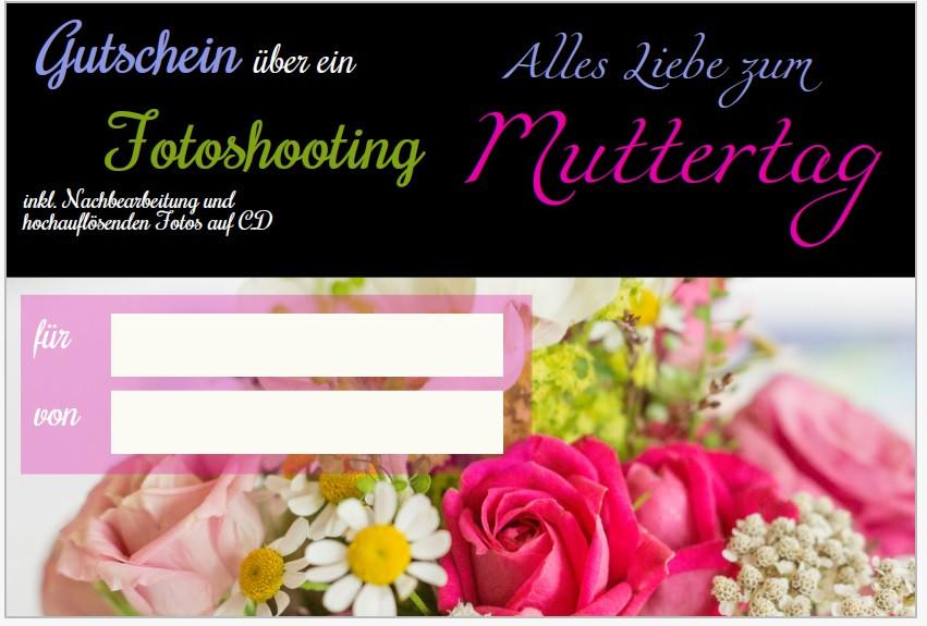 Muttertagsgutschein / Familienfotoshooting