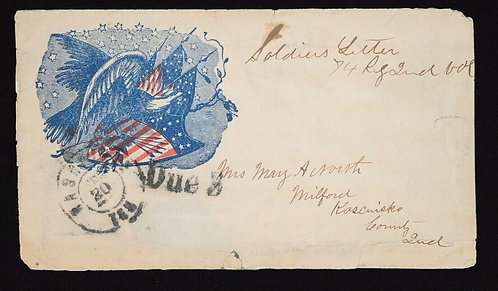 CSA Confederate Postmaster Provisional 1861 5C New Orleans 62X4 4 Margins Used