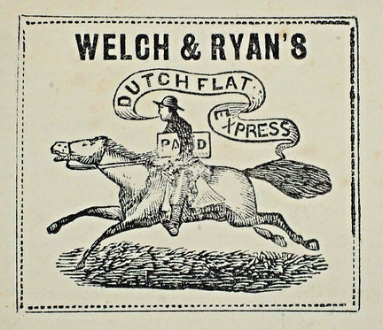 Running Pony Welch & Ryan'S Dutch Flat Express Only Reported Cover