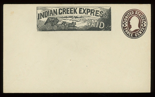 **Stagecoach With 4 Horses** Indian Creek Express Frank On Western Cover Unused
