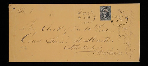 Us Scott #17 On Cover 1851 12C Quadruple Court Rate To Louisiana With Cert