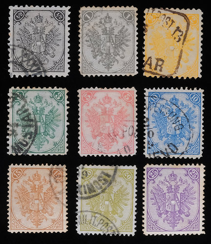 Bosnia & Herzegovina Scott 1//10 (1879-94) Used & Unused Complete Set