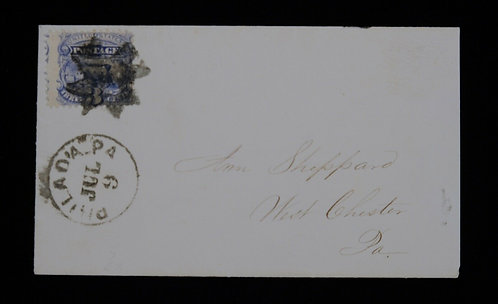 Us Scott #133 Fancy Cancel Knights Templar On Cover With Pf Cert