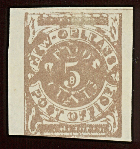 CSA Postmaster Provisional Scott 62X5 1861 5C New Orleans La Unused Wide Margins