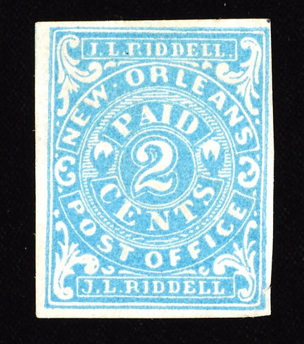 CSA Postmaster Provisional Scott # 62X1 1861 2C Blue Og Unused 4 Nice Margins