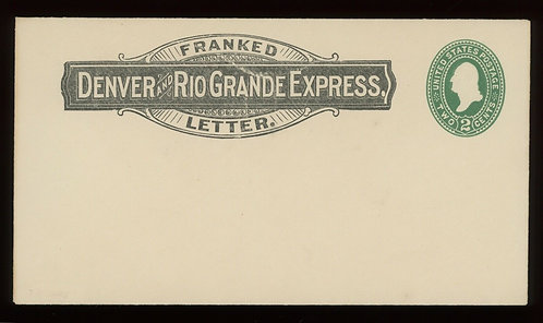 Denver And Rio Grande Express Franked Letter On 2C Green Cover Unused