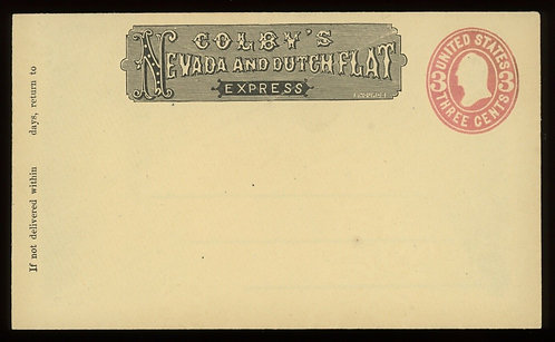 Colby'S Nevada And Dutch Flat Express Frank Haller Fc6 Cover Unused