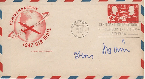 Autographed FDC - Captain Hans Baur Hitler'S Personal German Wwii Fighter Pilot