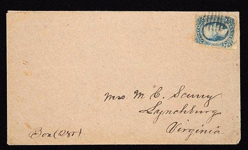 Civil War Patriotic Cover Eagle Shield Due 8 Soldiers Letter Like Bischel 4483