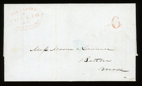 Hale & Co. Local Post 1844 Cover Scarce Providence To Boston