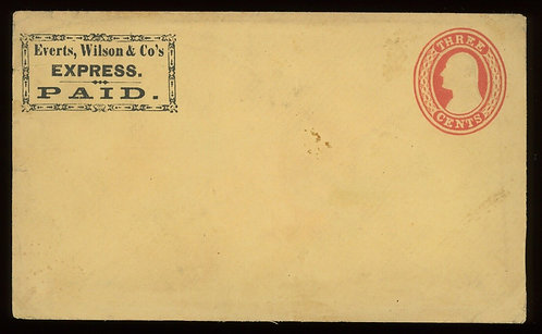 Everts Wilson & Co'S Express Paid Frank Haller Fe9 Cover Unused
