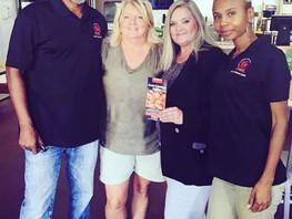 Angela, Sherrie, & Owners Gary Sturgis & Kaye Harris