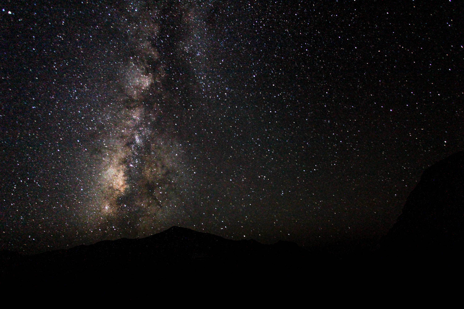 Milkway over Chisos - Big Bend - TX