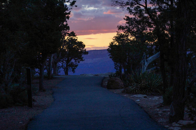 Sunset Road - Grand Canyon - AZ