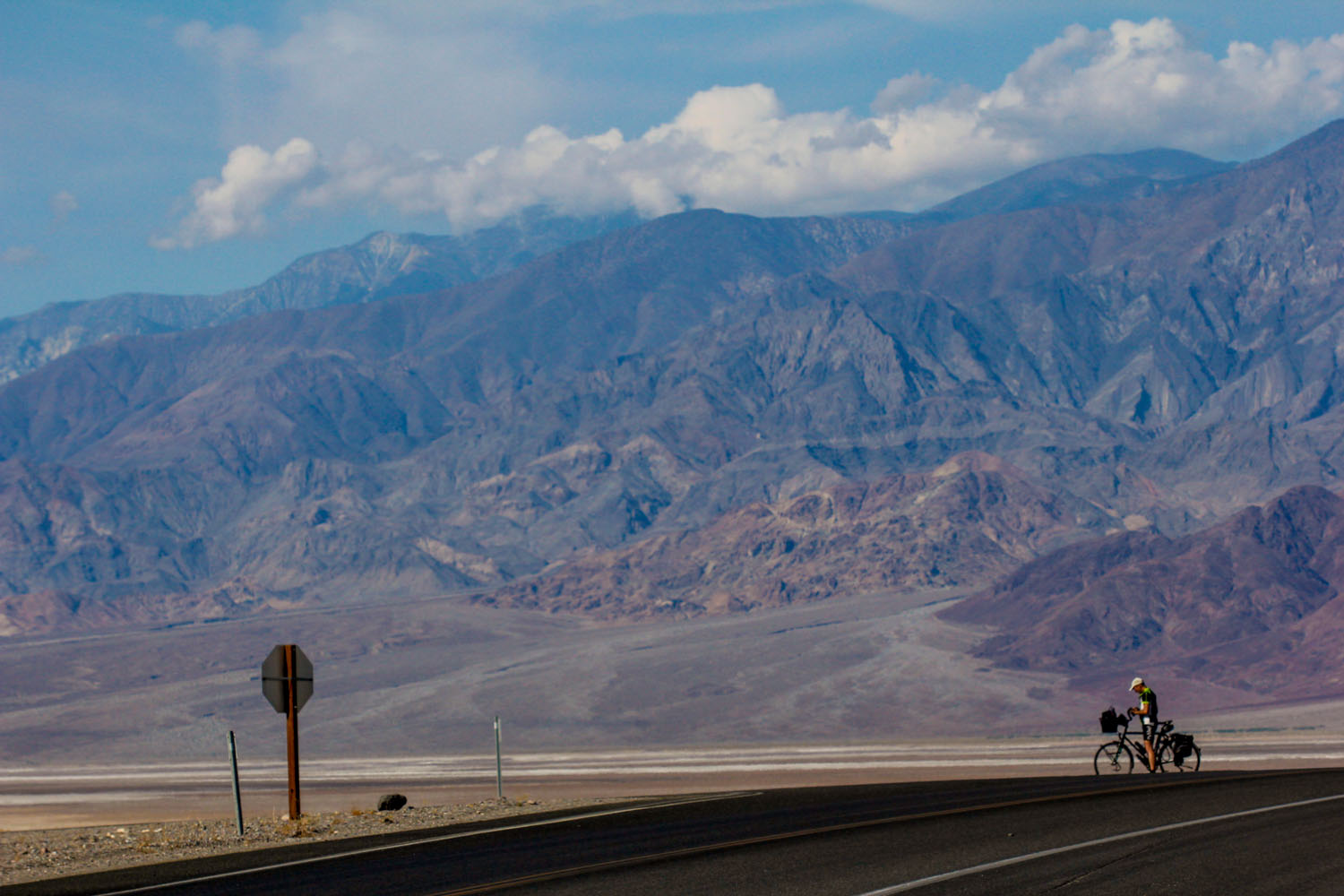 A man and His Bike - Death Valley