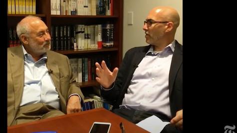 With Joe Stiglitz, July 28, 2016
