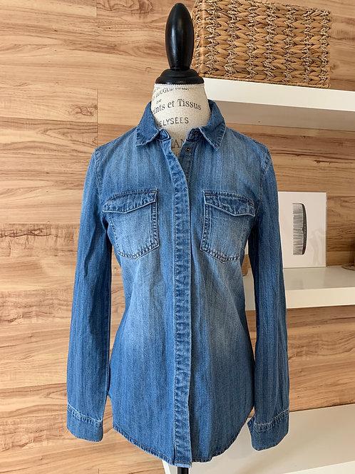 Chemise en jeans avec boutons pressions
