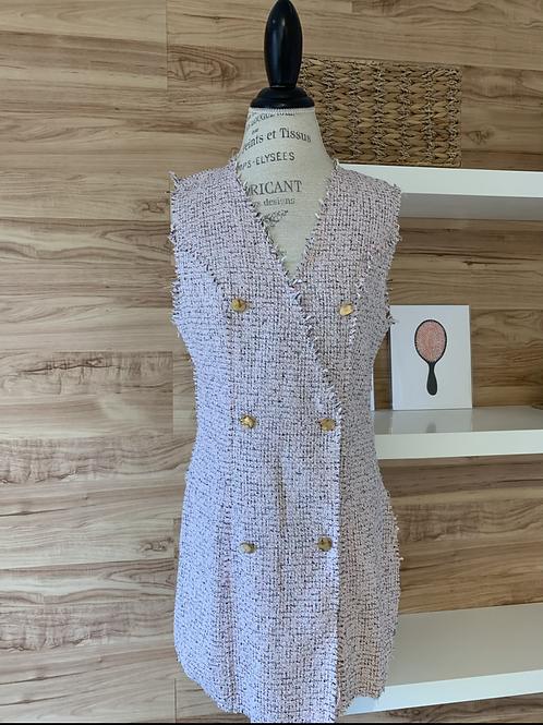 Robe style lainage rosée
