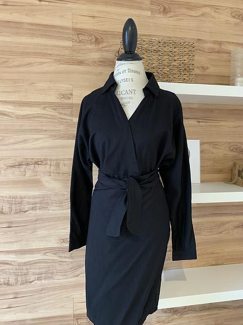 Robe avec effet jupe attachée
