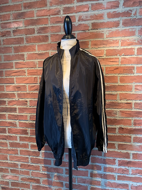 Veste style bomber jacket avec lignes blanches aux bras
