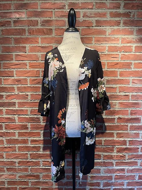 Veste style kimono multicolore