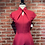 Thumbnail: Robe longue avec petites manches rouge