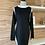 Thumbnail: Robe noire avec bande blanche sur les côtés