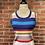 Thumbnail: Robe rayée multicolore