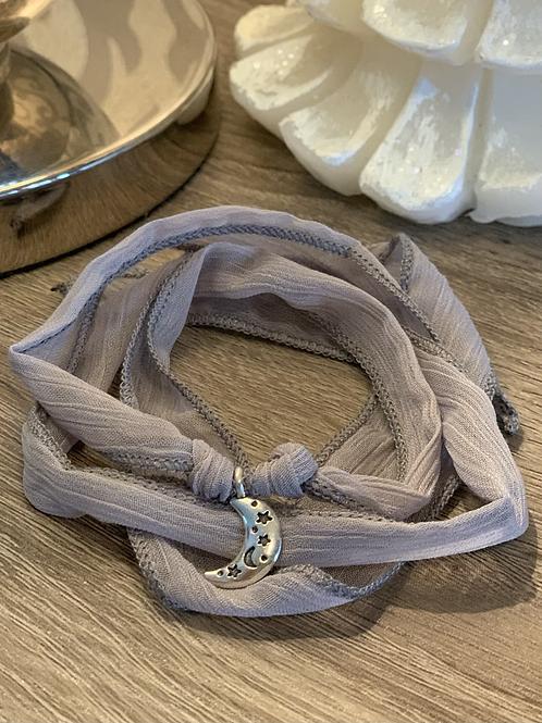 Bracelet de tissu avec lune