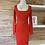 Thumbnail: Robe rouge avec ceinture