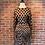Thumbnail: Robe à pois brun et noir