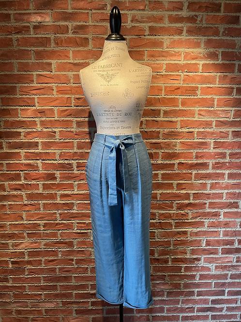 Pantalon bleu/gris