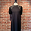 Thumbnail: Robe avec manches courtes en dentelles noires