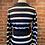 Thumbnail: Robe d'automne rayée bleue et crème