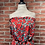 Thumbnail: Onepiece short fleuri rouge