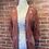 Thumbnail: Veste style kimono couleur rouille