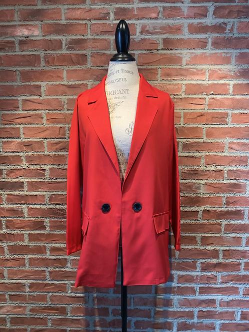Veste style veston rouge