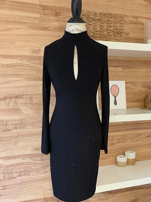 Robe noire brillante