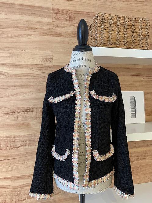 Veston de tissu laineux