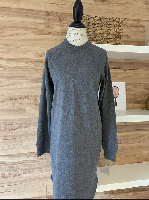 Robe style chandail gris