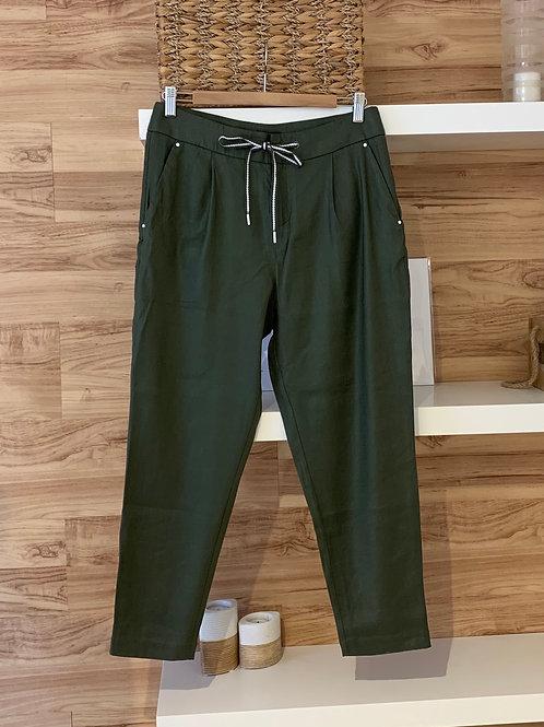 Pantalon cheville vert kaki
