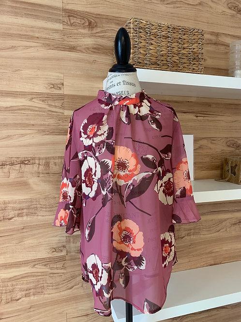Chandail chemise fleuri