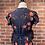 Thumbnail: Robe bleue marin avec fleurs oranges