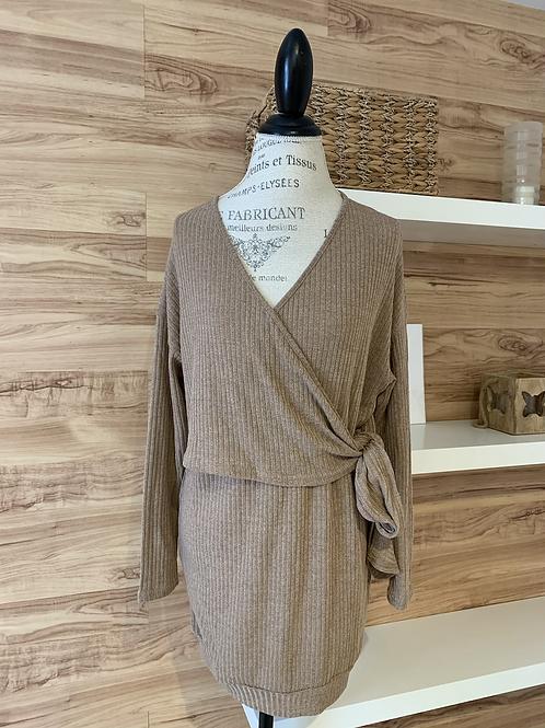 Robe chandail style cache-cœur