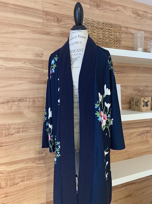 Veste longue style kimono