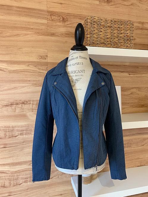 Manteau court en faux cuir