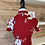 Thumbnail: Robe rouge avec fleurs blanches